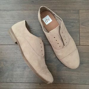 Dolce Vita Taupe Faux-Suede Slip-On Oxfords 8.5
